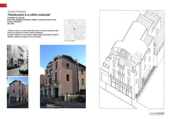 Ristrutturazione casa unifamiliare in Via Firenze, Pescara