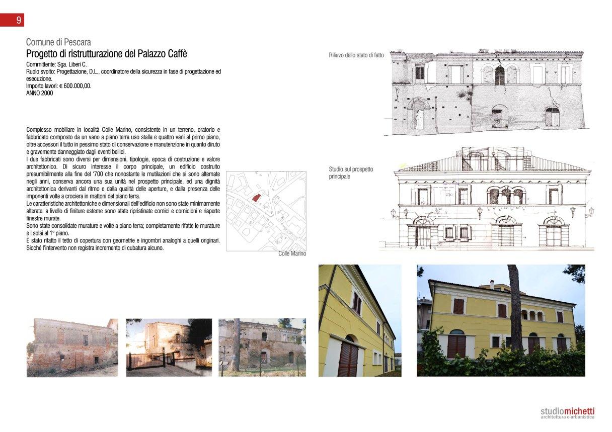 Ex Palazzo Caffè -  Progetto e D.L.  arch. Antonio Michetti con arch.Gianluca Michetti