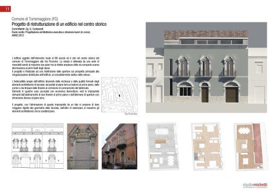 Restauro palazzo storico a Torremaggiore (Fg)