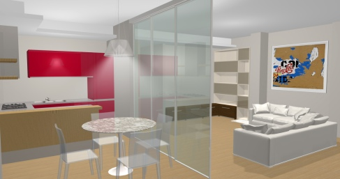Appartamento in Via Crivelli, Milano - render